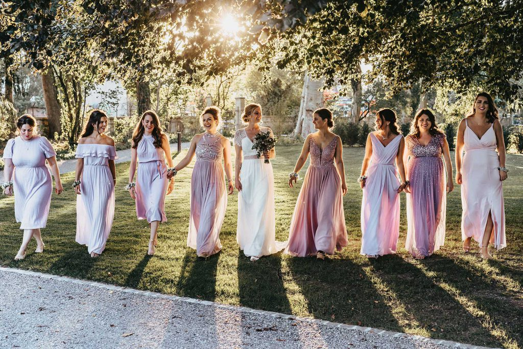 Sunset Wedding bride and bridesmaids 1024x683 - Ihr Fotograf in der Schweiz | Your Photo Experience